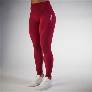 Gymshark Seamless Leggings (Beet Red) LIKE NEW